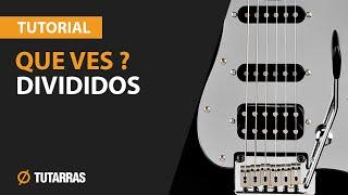 QUE VES - DIVIDIDOS Como tocar en Guitarra electrica CLASE TUTORIAL