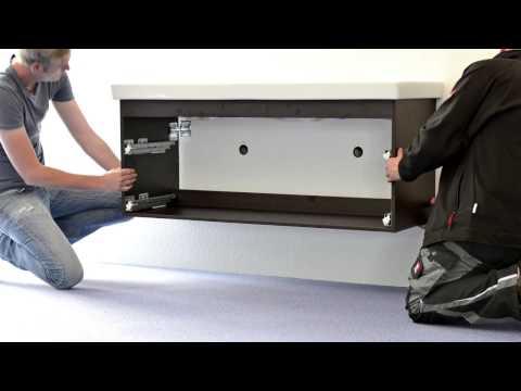 Aufbau und Montage eines Architekt Waschtischunterschranks (Beispielvideo)