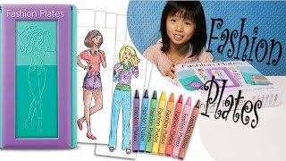 Kawaii Rachel Shows How To Use Fashion Plates To Create Colorful Drawings