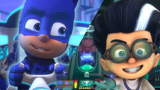 Catboy chasing down Romeo's Flying Factory | PJ Masks Official