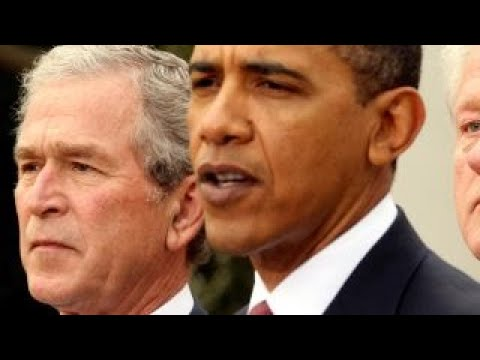 Bush, Obama take veiled jabs at Trump