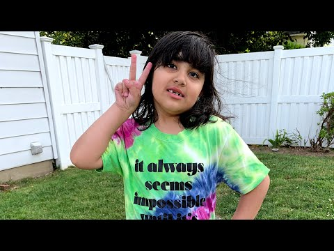Abeeha's First Time Tie-dyeing a Shirt