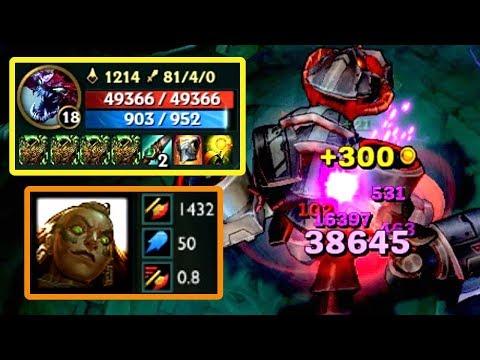 1400+AD 伊蘿旖 E vs 480000+HP 科加斯 盛宴1下 5000+