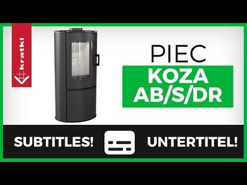 Печь-камин Kratki Koza/AB/S/DR (видео)