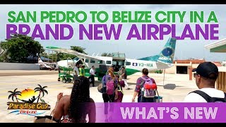 FLY San Pedro to Belize International on Brand New Maya Island Airplane