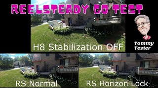 FPV Reptile Cloud | ReelSteady GO Lock Horizon Test | Gopro Hero 8