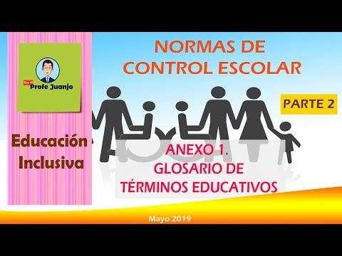 Glosario Normas De Control Escolar Parte 2
