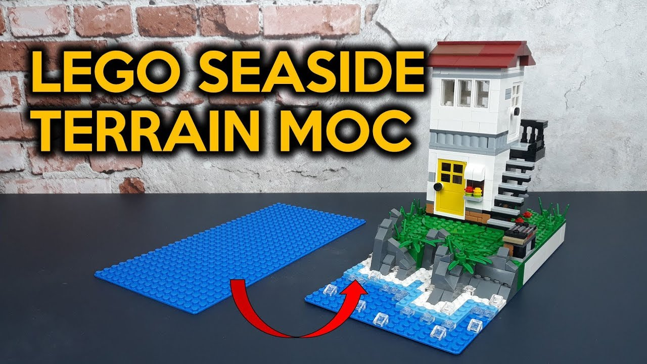 How to Build LEGO Seaside Terrain (MOC Techniques)