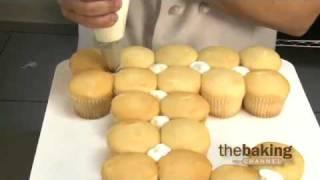 Numeral Cupcake Cake Design from DecoPac - First Birthday Cupcake Cake