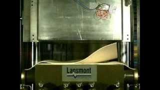 Lansmont P55L drop with felt programmers (slow motion)
