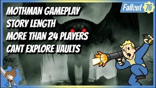 FALLOUT 76 NEW INFO! - Mothman Gameplay, Story Length, More Than 24 Players & MORE!