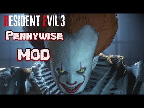 Pennywise 牠『小丑』MOD Resident Evil 3 remake Demo (生化危機3 重製版)