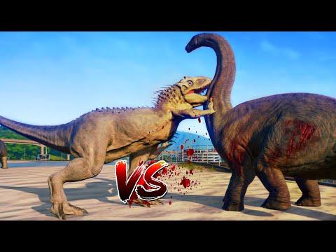Indominus rex Vs Brachiosaurus Fight And More..  - Jurassic World Evolution