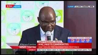 IEBC Chairman Wafula Chebukati addresses independent presidential candidates: News Centre
