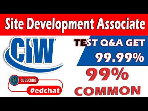 CIW Site Development Associate   Get 100% Q&A   June 18th, 2018 ...