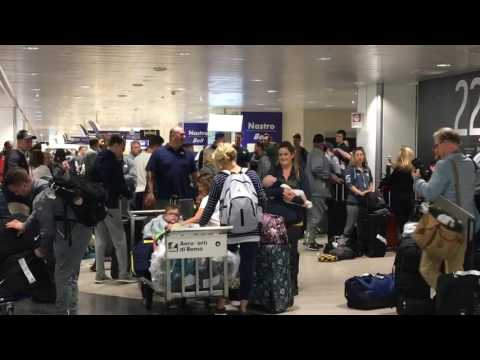 Michigan football team arrives in Italy for week in Rome