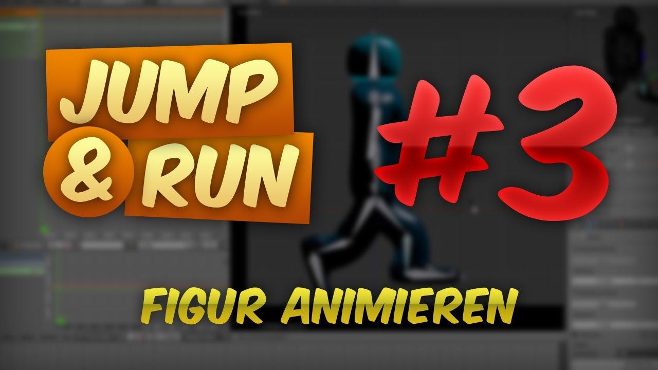 JUMP & RUN #3 - Figur Animieren | Tutorial Blender Game Engine [DEUTSCH] [HD]