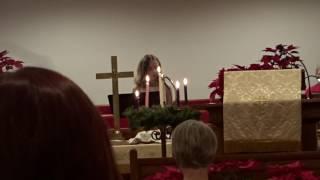 "Charlotte singing ""God Rest Ye Merry Gentlemen"""