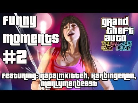 GTA IV The Ballad Of Gay Tony - Funny Moments (#2)