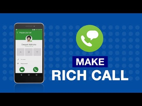 How to Make Rich Call using Jio4GVoice App?
