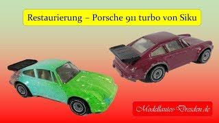 #14 Porsche 911 turbo von Siku Wassertransferdruck Custom restoration restaurieren Kommentar deutsch