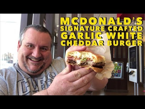 McDonald's Signature Crafted Garlic White Cheddar Burger