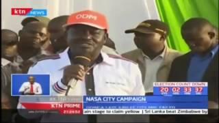 NASA leader Raila Odinga claims Jubilee is using the Interior Ministry docket to manipulate IEBC
