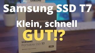 Samsung Portable SSD T7 - Unboxing und Review