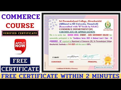 Free Online Certificate Course || E-Commerce Course Certificate ...