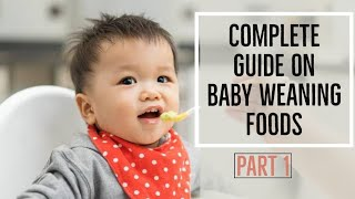 Complete guide on Weaning foods stage 1 - Nutrific/ getting started with weaning /baby food recipes