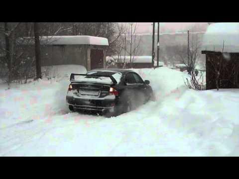 Subaru on the snow