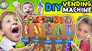 DIY Cardboard Dispenser Vending Machine!  FUNnel Vlog Fam