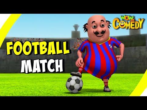 Motu Patlu- EP45B | Football Match | Funny Videos For Kids | Wow Kidz Comedy
