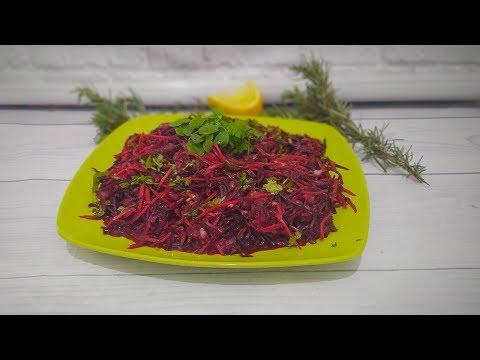 Простой рецепт салата со свеклой и морковкой по- корейски Salad recipe