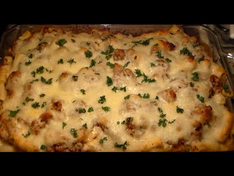 How To Make The BEST Baked Ziti With Italian Sausage: Easy Delicious Baked Ziti Recipe