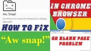Fix Aw, Snap! issue when running Google Chrome - Самые
