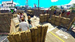ПОЛНАЯ ЗАЩИТА БАЗЫ GROVE STREET В ЗОМБИ АПОКАЛИПСИС В GTA 5
