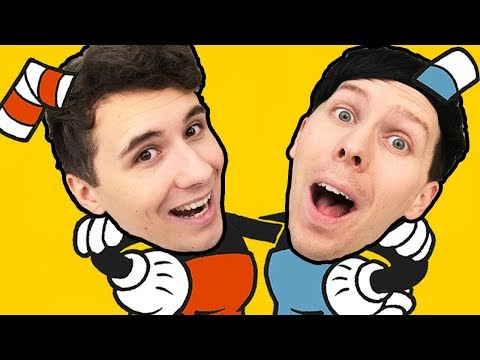 Dan and Phil are.. CUPHEAD AND MUGMAN