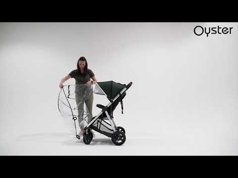 Oyster Прогулочная коляска Zero Alpine Pebble с накидкой на ножки