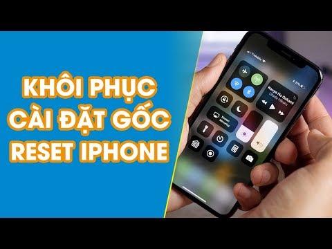 Khôi phục cài đặt gốc Reset iPhone - Viettopcare