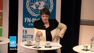 Helen Clark from UNDP @ seminar on Agenda 2030 hosted by UNA of Sweden