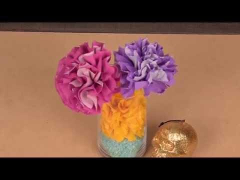 DIY Kleurrijke bloemendecoratie