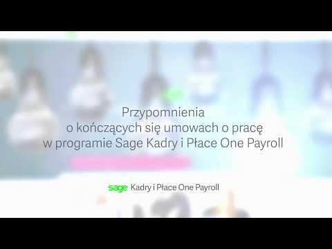 Sage Kadry i Place One Payroll: Przypomnienia o umowach o pracę<
