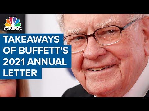 Here are the big takeaways from Warren Buffett's 2021 annual letter