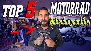 Meine Top 5 - Motorrad Bekleidungs Artikel | Jens Kuck