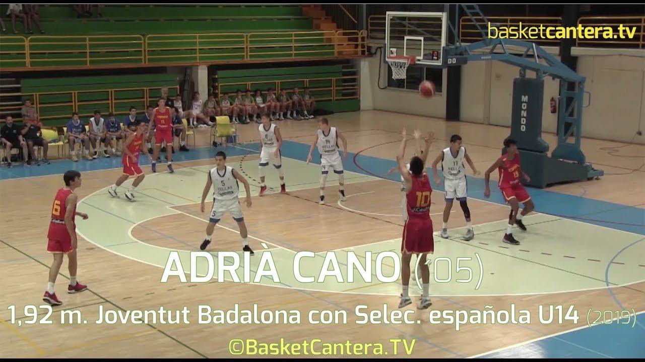 ADRIÀ CANO (´05) 1,92 m. (Joventut) con Selec. española U14M Torneo BAM 2019 (BasketCantera.TV)