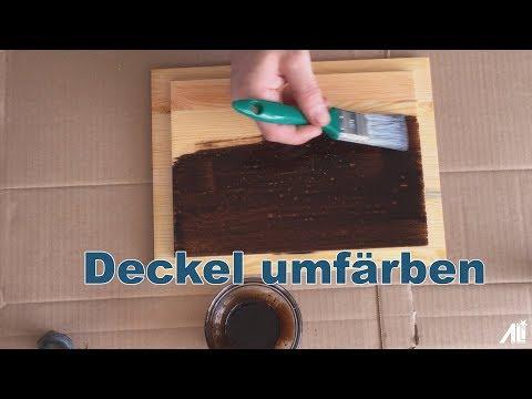 ✅ Holz-Öl auftragen (Nussbaum-Öl)- (Walnut wood oil)