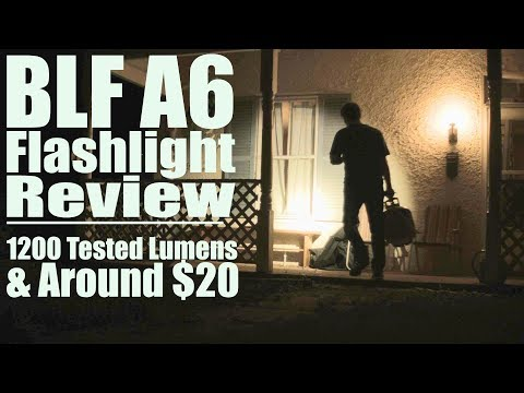 Flashlight Review: BLF A6 Astrolux S1 (1200+ Lumens) Budget $30 LED Torch (Brightest EDC size 2016)