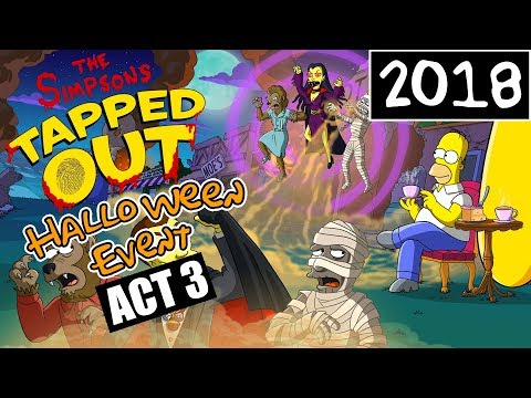 KC Plays! - The Simpsons: Tapped Out | Halloween Event | AHH MUMMIES! ACT 3 IS HERE (2018)