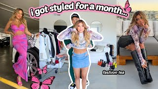 I HIRED A CELEBRITY STYLIST FOR A MONTH (the tea....)